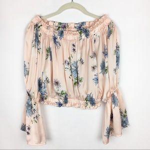 Fashion Nova Floral Crop Off The Shoulder Top